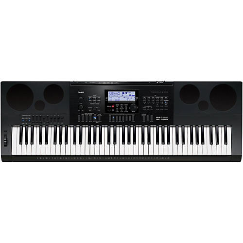open box casio wk 7600 76 key portable keyboard musician 39 s friend. Black Bedroom Furniture Sets. Home Design Ideas