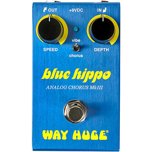 Open Box Way Huge Electronics WM61 Mini Blue Hippo Analog Chorus Effects Pedal