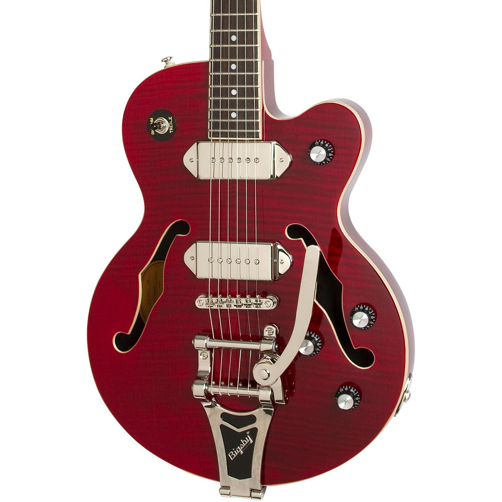 Open Box Epiphone Wildkat Semi-Hollowbody Electric Guitar with Bigsby