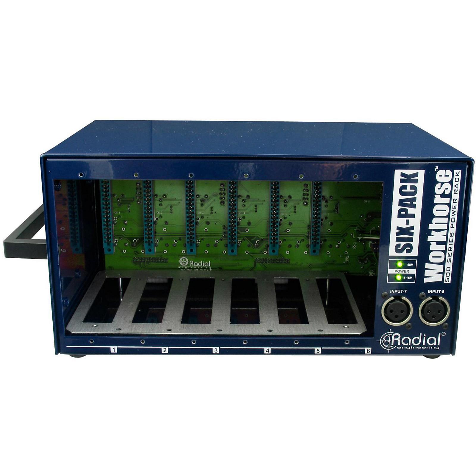 Open Box Radial Engineering Workhorse - SixPack 500 Series Desktop Rack