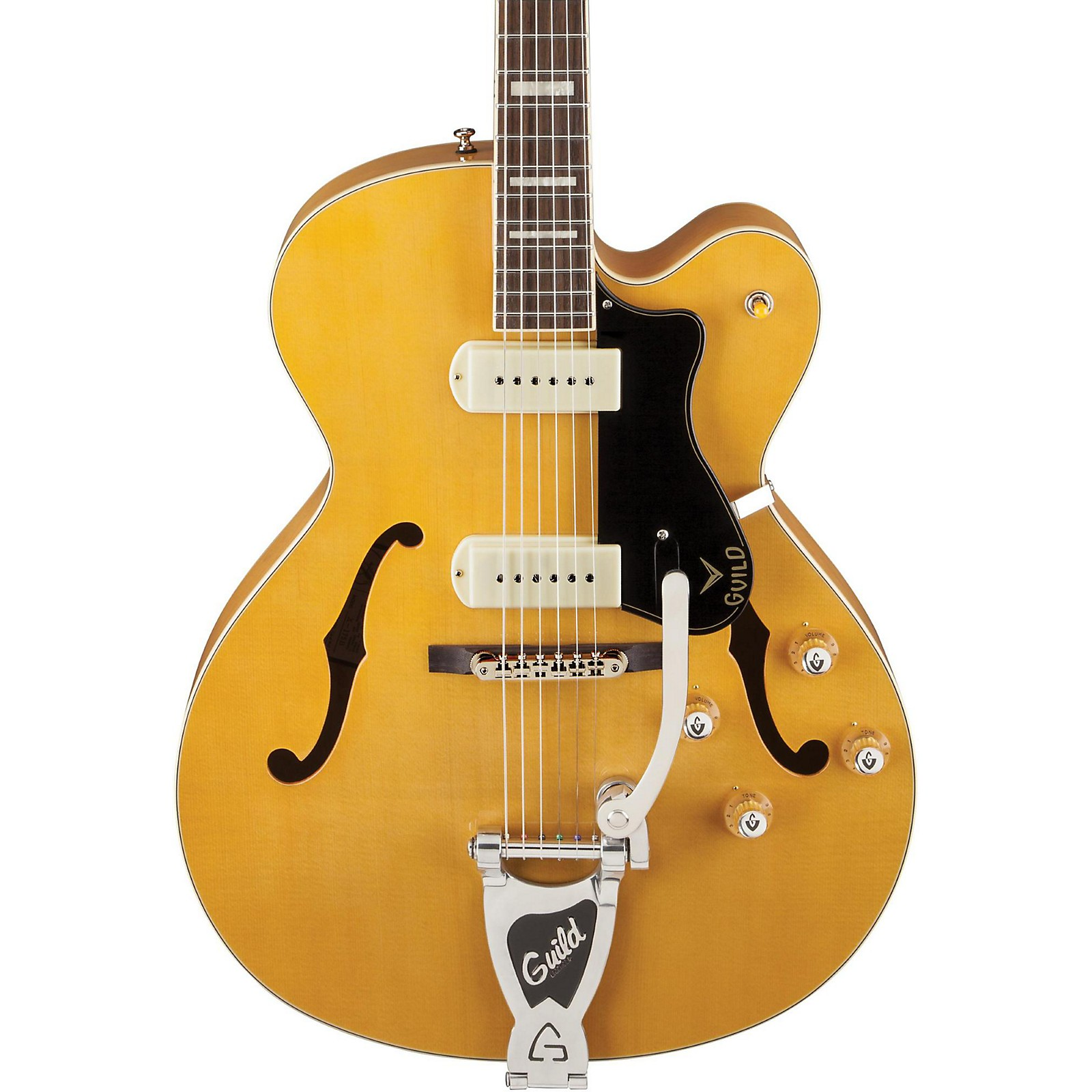 Open Box Guild X-175B Manhattan Hollowbody Archtop Electric Guitar with Guild Vibrato Tailpiece