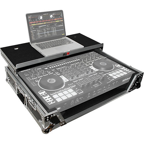 Open Box ProX XS-DJ808WLTBL Black ATA Style Flight Road Case with Wheels for Roland DJ-808 and Denon MC7000