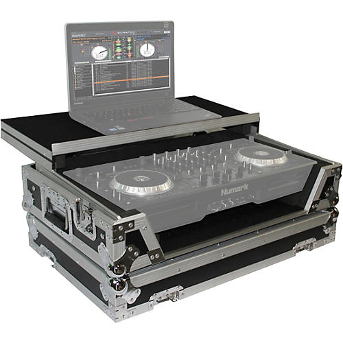 Open Box ProX XS-MIXDECKWLT ATA Style Flight Road Case with Sliding Laptop Shelf and Wheels for Numark MixDeck Quad DJ Controller