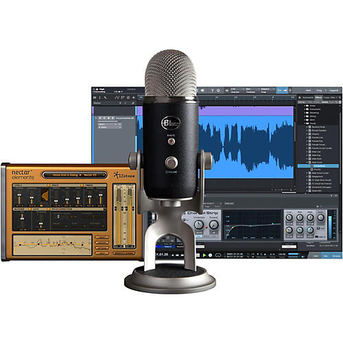 Open Box BLUE Yeti Pro Studio USB/iOS Microphone - with $100 in Software