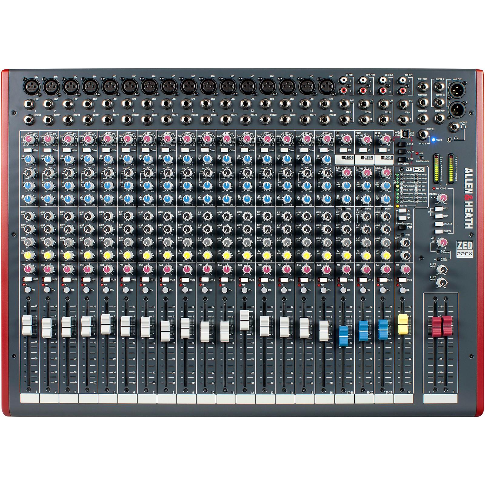 Open Box Allen & Heath ZED-22FX USB Mixer with Effects