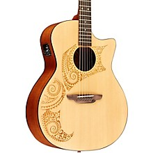 Luna Guitars Oracle Tattoo Acoustic-Electric Guitar with USB