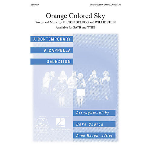 Hal Leonard Orange Colored Sky SATB a cappella arranged by Deke Sharon