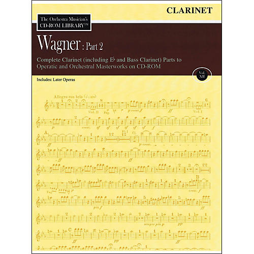 Hal Leonard Orchestra Musician's CD-Rom Library Vol 12 Wagner Part 2 Clarinet