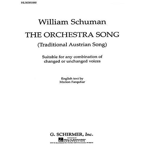 G. Schirmer Orchestra Song, The Traditional Austrian Song composed by Traditional Austrian