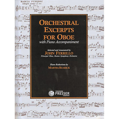 Carl Fischer Orchestral Excerpts For Oboe Book
