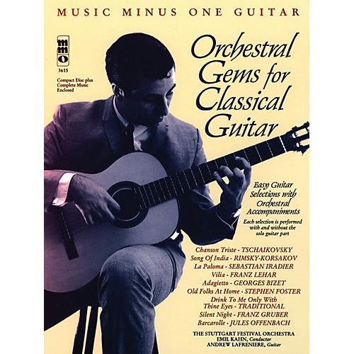 Music Minus One Orchestral Gems for Classical Guitar Music Minus One Series Softcover with CD