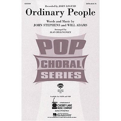 Cherry Lane Ordinary People SATB by John Legend arranged by Alan Billingsley