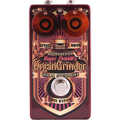 Lounsberry Pedals Organ Grinder Overdrive Effects Pedal