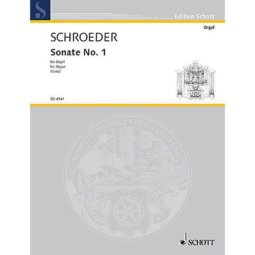 Schott Organ Sonata No. 1 Schott Series