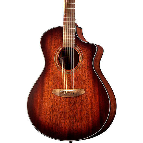 Breedlove Organic Collection Wildwood Concert Cutaway CE Acoustic-Electric Guitar Whiskey Burst