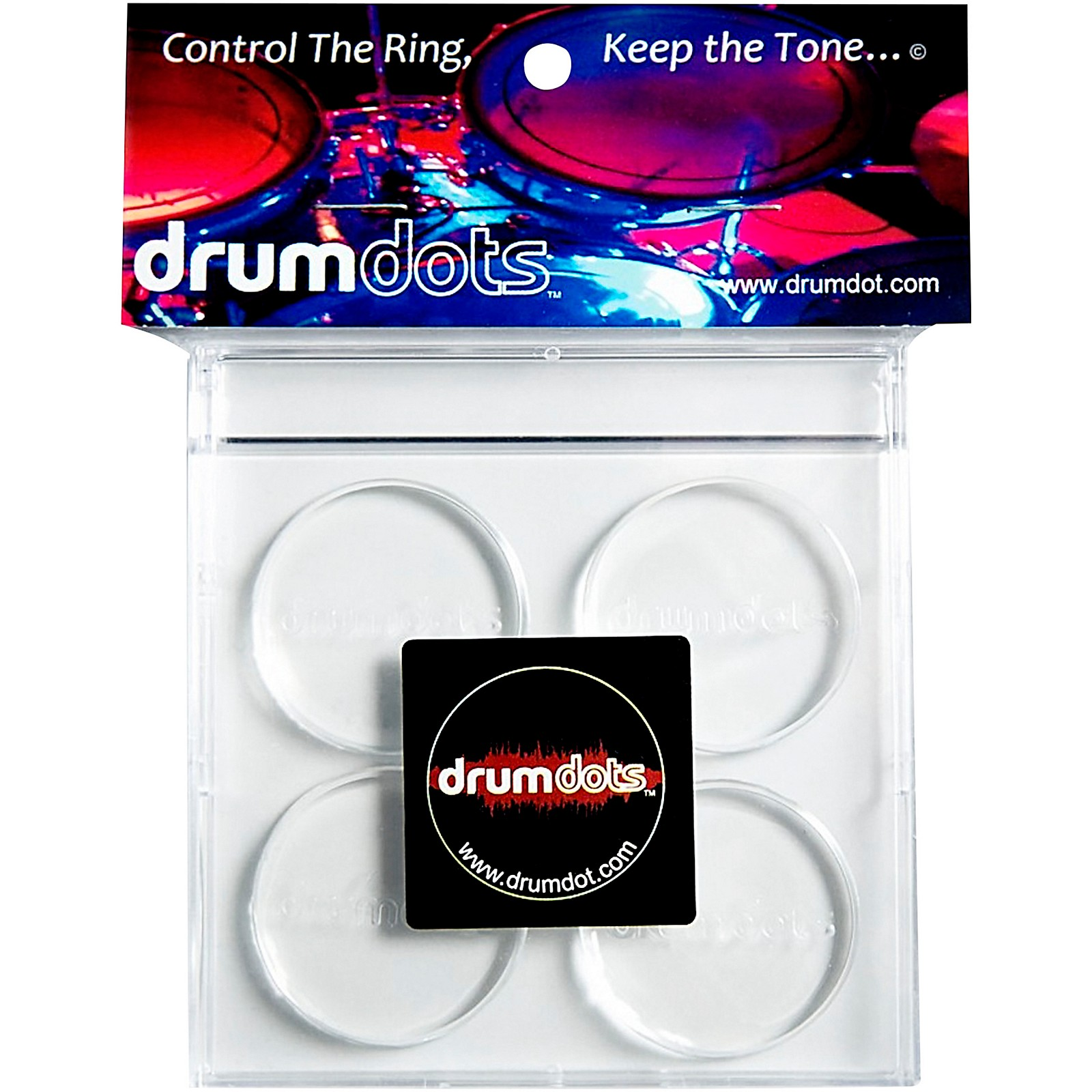 drumdots Original Drum Dampeners, 4-Pack