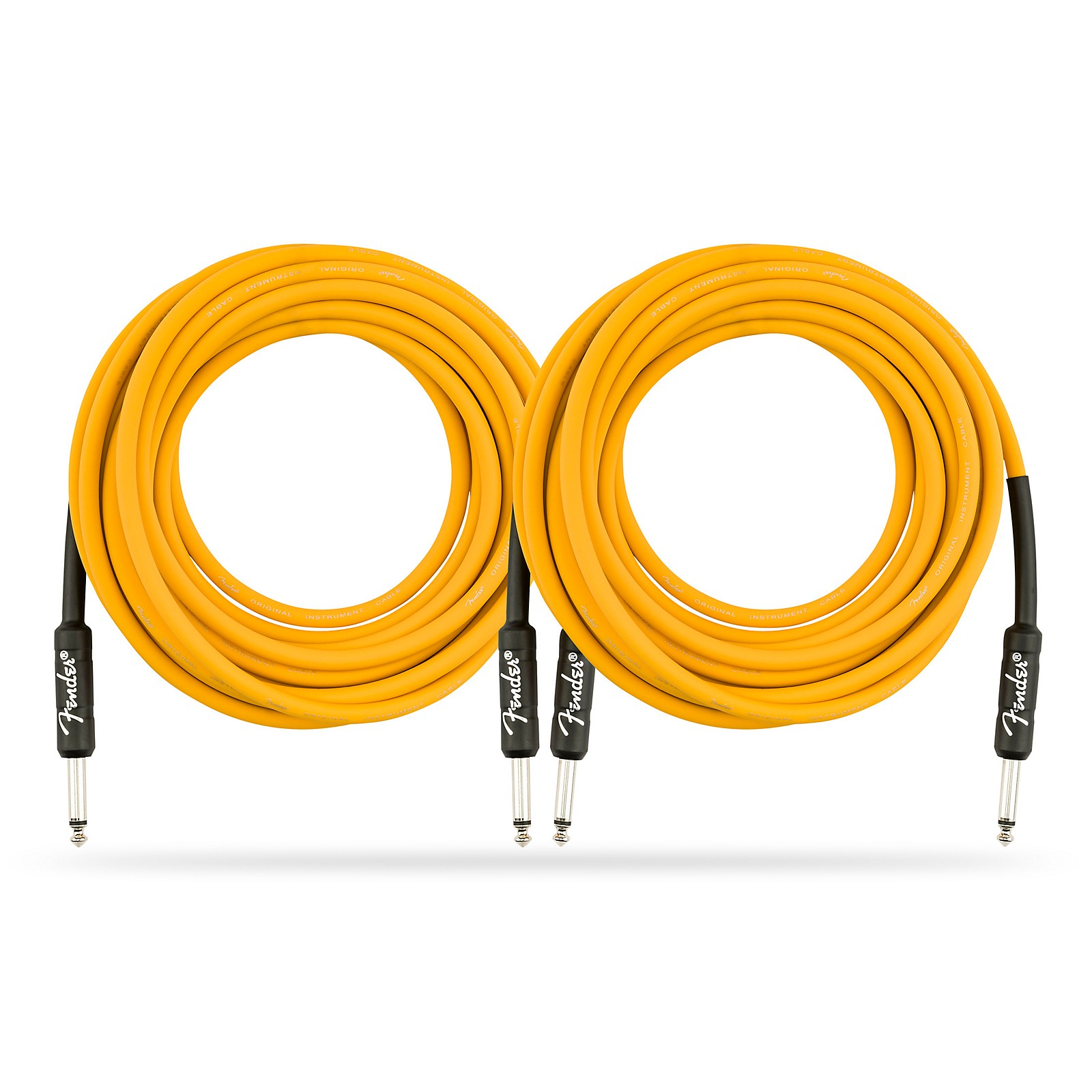 Fender Original Series Limited Edition Butterscotch Blonde Instrument Cable - 18.6 ft. - 2 Pack