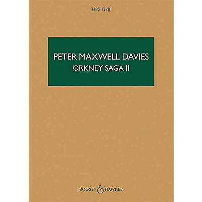 Boosey and Hawkes Orkney Saga II Boosey & Hawkes Scores/Books Series Softcover Composed by Peter Maxwell Davies