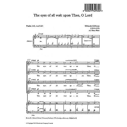 Music Sales Orlando Gibbons: The Eyes Of All Wait Upon Thee, O Lord (Ed. Barry Rose) Music Sales America Series