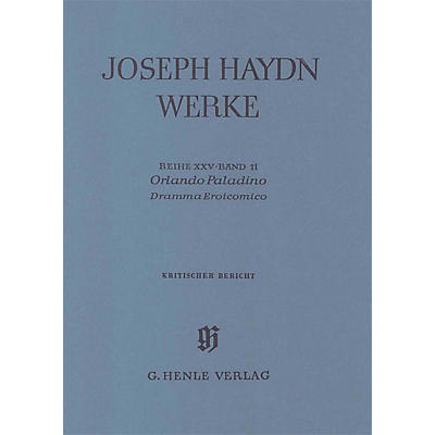 G. Henle Verlag Orlando Paladino - Dramma Eroicomico - 2nd and 3rd act, 2nd part Henle Edition Series Softcover