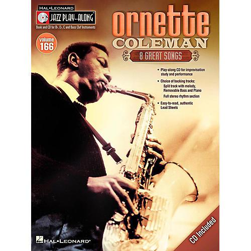 Hal Leonard Ornette Coleman - Jazz Play-Along Volume 166 Book/CD