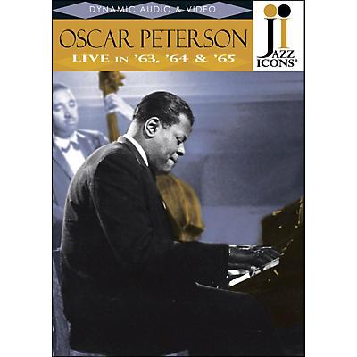 Hal Leonard Oscar Peterson Live In '63, '64 & '65 Jazz Icons DVD