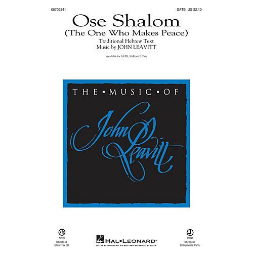 Hal Leonard Ose Shalom (The One Who Makes Peace) (SATB) SATB