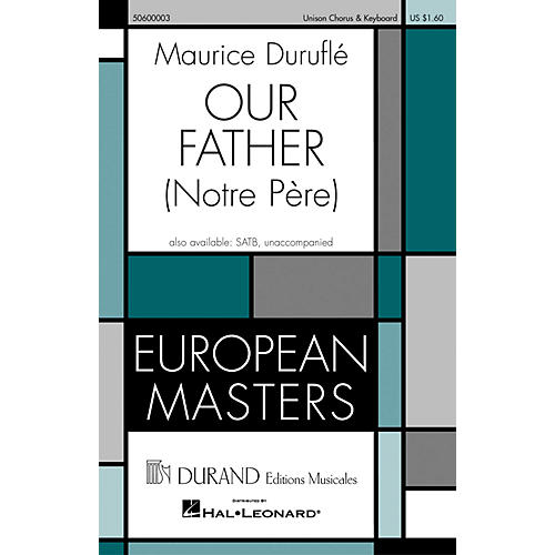 Editions Durand Our Father (Notre Pére) composed by Maurice Duruflé