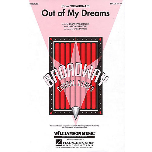 Hal Leonard Out of My Dreams (from Oklahoma!) SSA arranged by Linda Spevacek