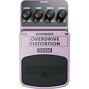 behringer overdrive distortion od300 guitar effects pedal musician 39 s friend. Black Bedroom Furniture Sets. Home Design Ideas