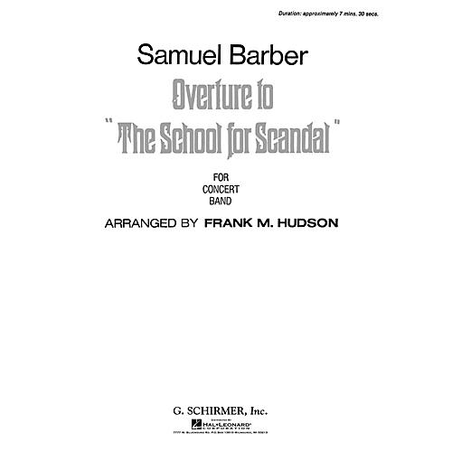 G. Schirmer Overture To School For Scandal Score *parts Avail On Rental* Concert Band Composed by S Barber