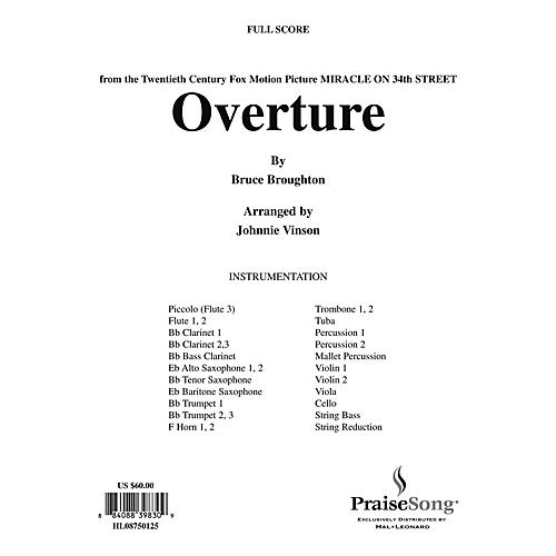 Hal Leonard Overture to Miracle on 34th Street (Church Orchestra) Score & Parts arranged by Johnnie Vinson