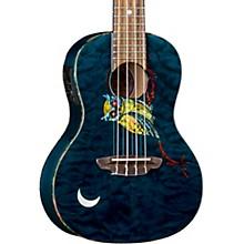 Luna Guitars Owl Quilt Top Concert Acoustic-Electric Ukulele