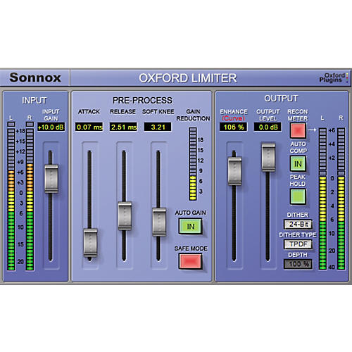 Sonnox Oxford Limiter (Native) Software Download