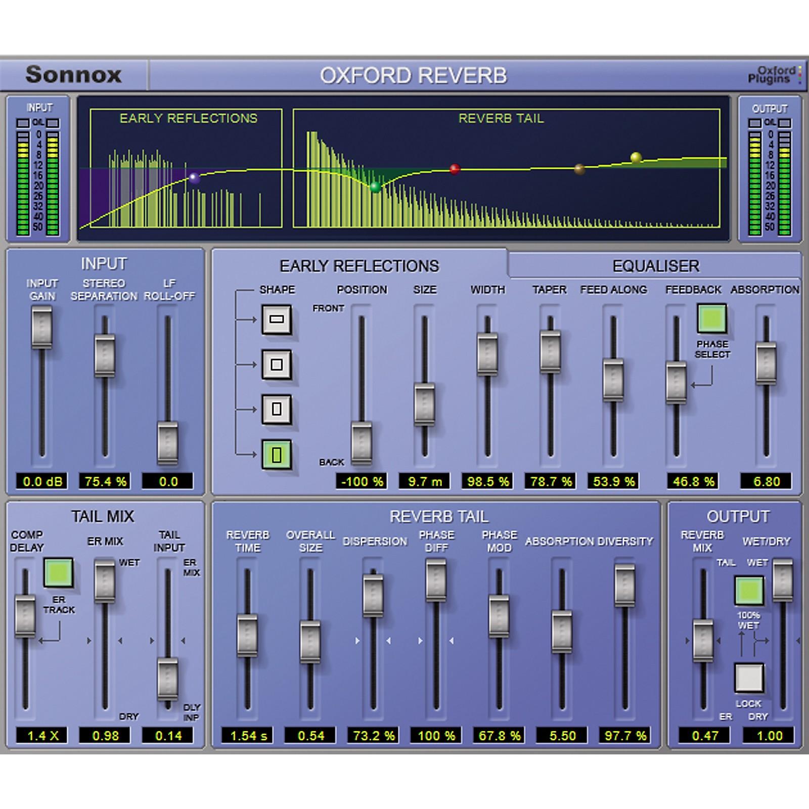 Sonnox Oxford Reverb (HD-HDX) Software Download