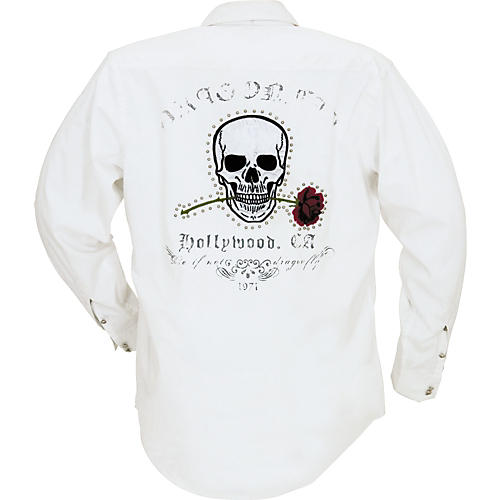 Dragonfly Clothing Oxford with Skull and Rose Applique on Back