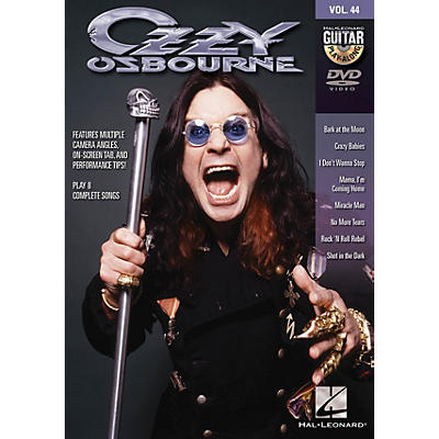 Hal Leonard Ozzy Osbourne (Guitar Play-Along DVD Volume 44) Guitar Play-Along DVD Series DVD by Ozzy Osbourne