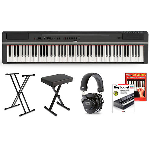 Yamaha P-125 Digital Piano Black Essentials Package