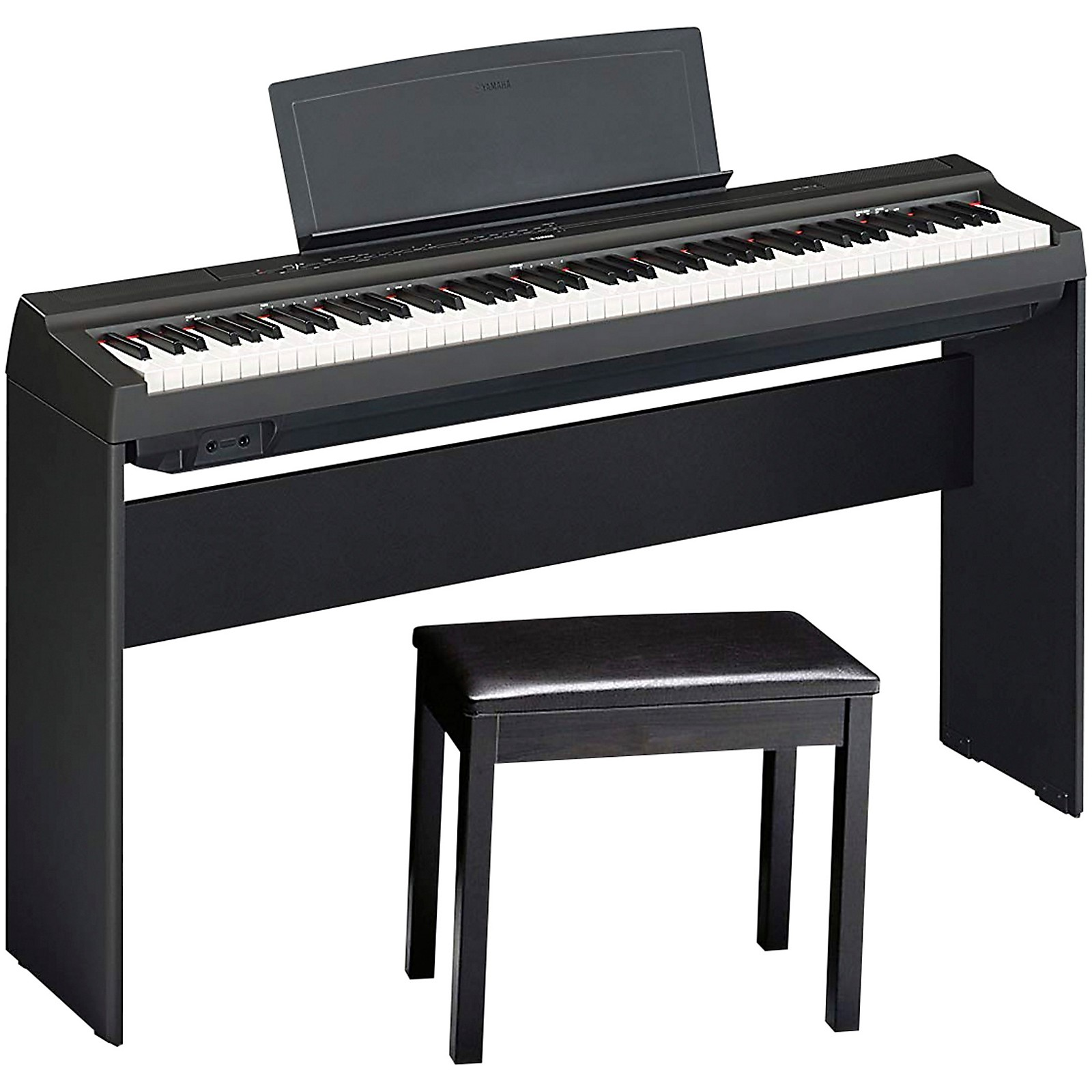 Yamaha P-125BLB Digital Piano with Wooden Stand and Bench