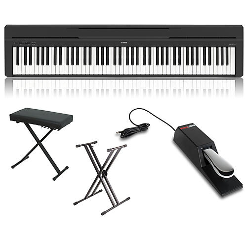 yamaha p 45 88 key weighted action digital piano package musician 39 s friend. Black Bedroom Furniture Sets. Home Design Ideas