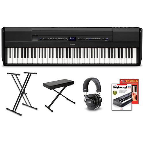 Yamaha P-515 Digital Piano Package Black Beginner
