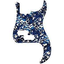 P-Bass Pickguard Blue Swirl Pearl