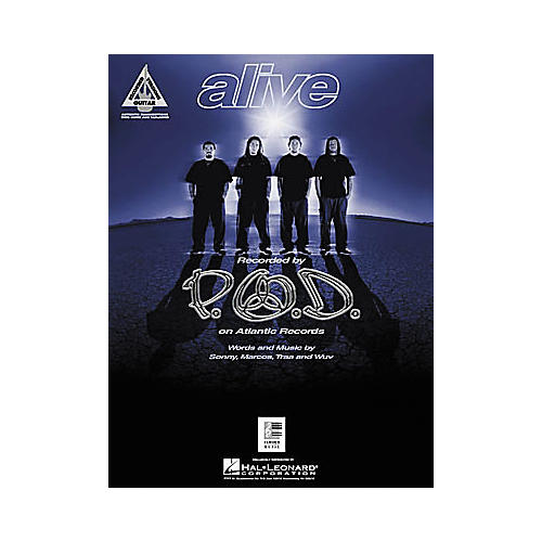 Hal Leonard P.O.D. Alive Guitar Sheet Music Book