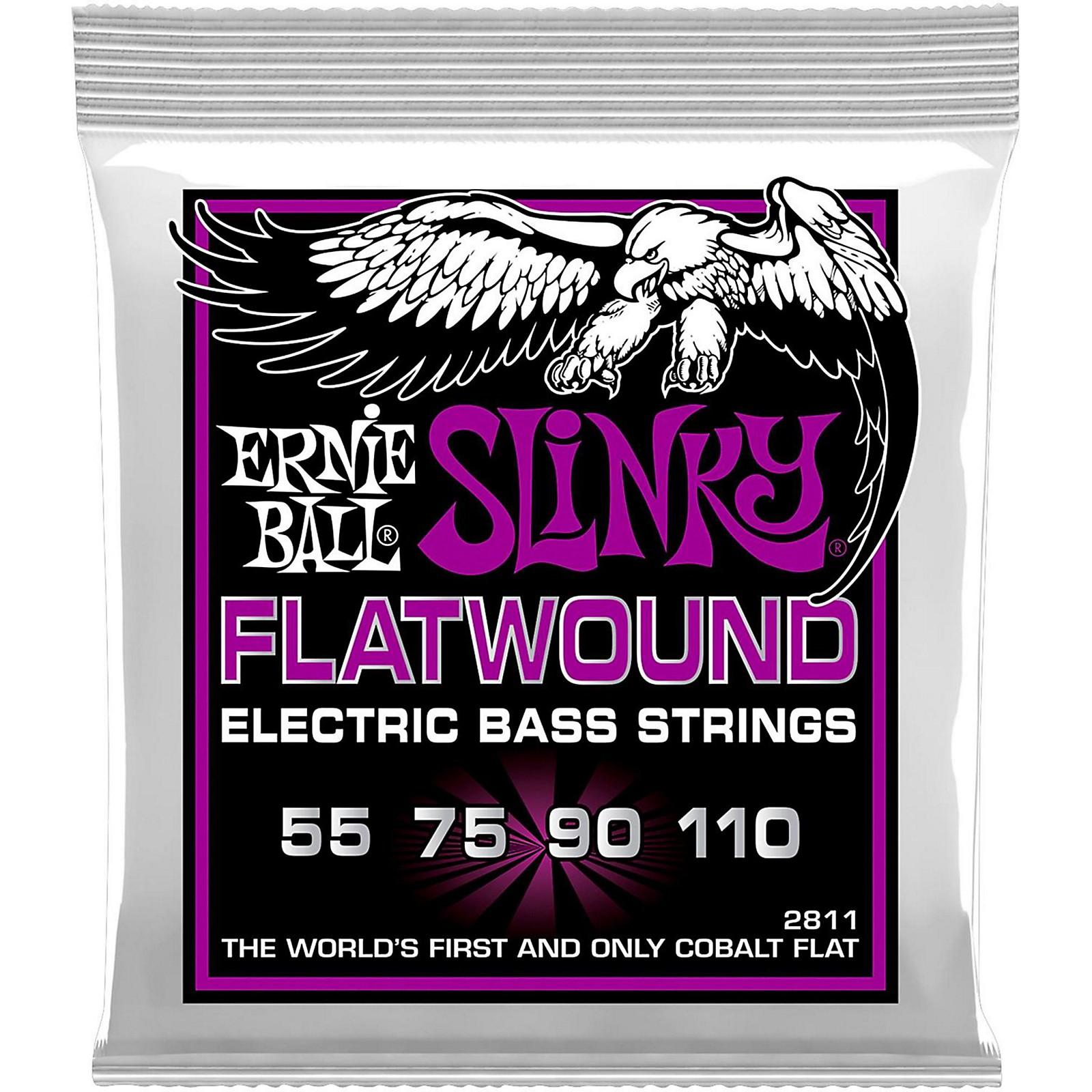 Ernie Ball P02811 Power Slinky Flatwound Bass Strings