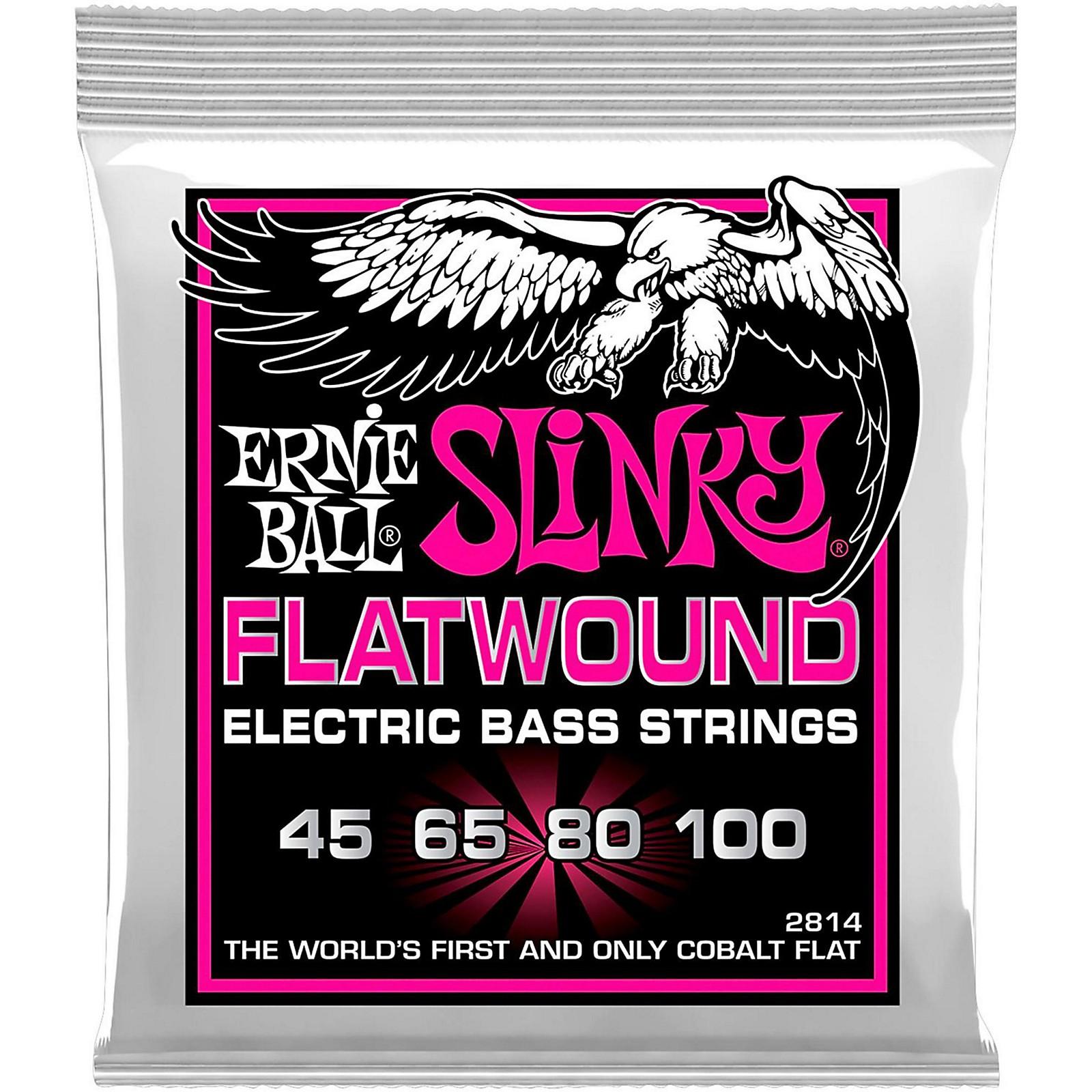 Ernie Ball P02814 Super Slinky Flatwound Bass Strings