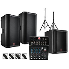 PA Package with L802 Mixer, VARI V2300 Series Speakers, V2318S Subwoofer, Stands and Cables 15
