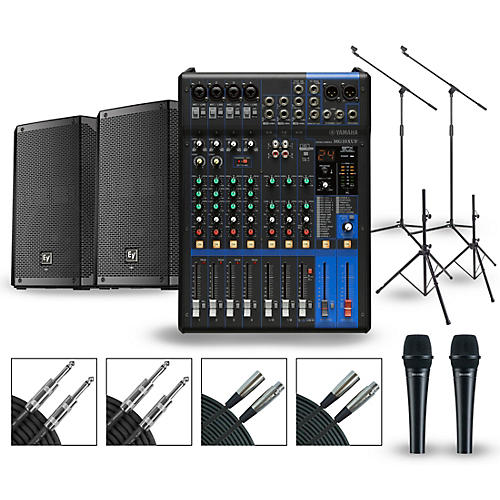 Yamaha PA Package with MG10XUF Mixer and Electro-Voice ELX200 Powered Speakers