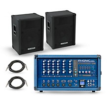 Phonic PA Package with Powerpod 630R Mixer and Kustom KPC Speakers