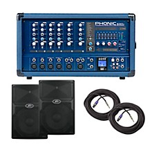 Phonic PA Package with Powerpod 630R Mixer with PVX Speakers