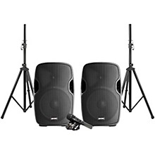 Open Box Gemini PA-SYS15 Complete Dual Speaker PA Package